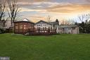 Exterior Rear - Huge Backyard & Screened Porch - 6201 POINDEXTER LN, NORTH BETHESDA