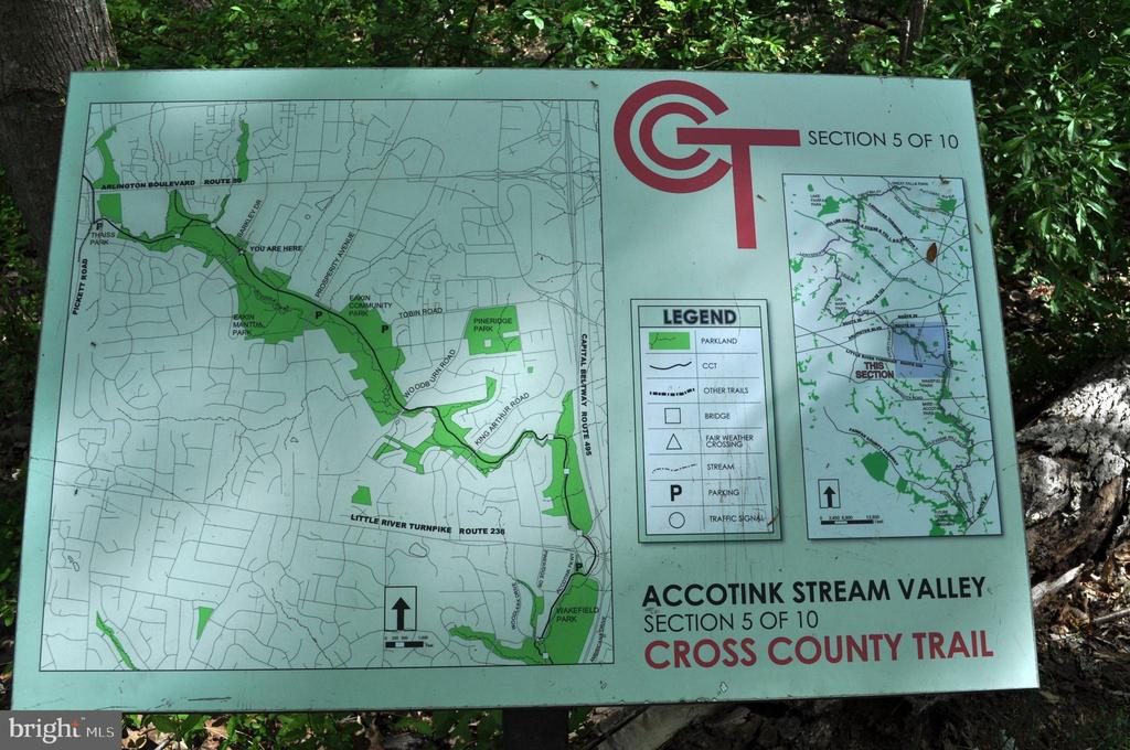 Trail to Lake Accotink - access in several places - 8938 COLESBURY PL, FAIRFAX