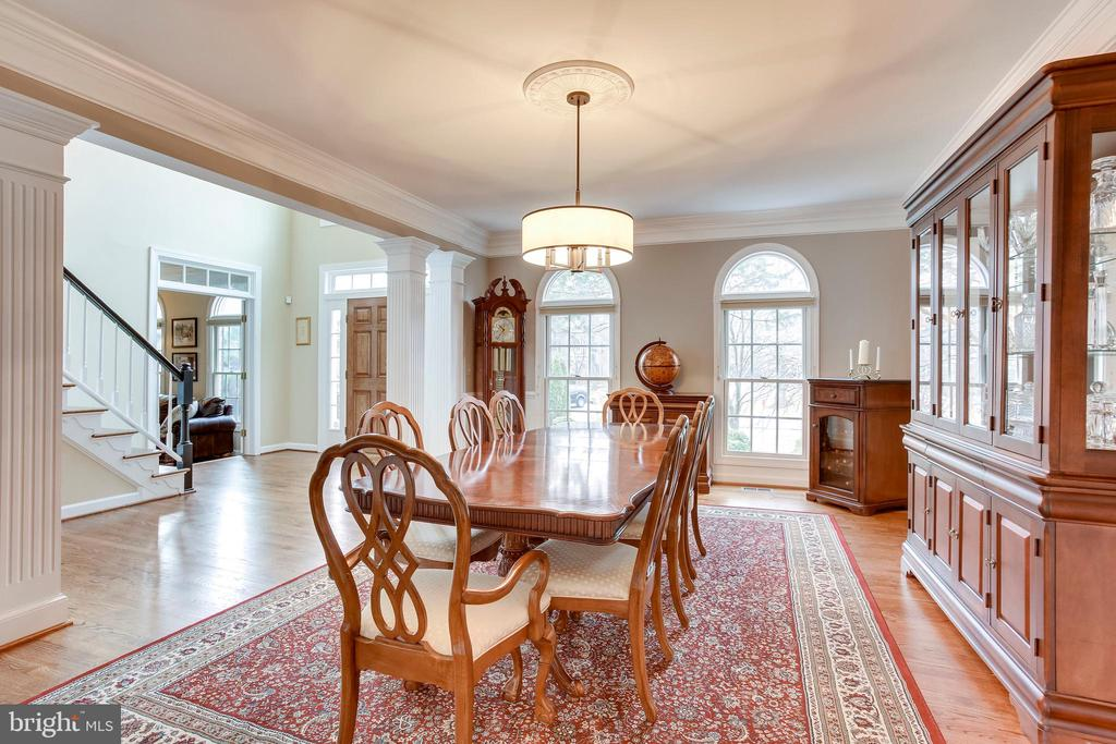 Dining Room off front entry - 11580 CEDAR CHASE RD, HERNDON