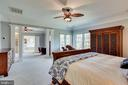 Master bedroom to sitting room and master bath - 11580 CEDAR CHASE RD, HERNDON