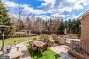 Backyard view - 11580 CEDAR CHASE RD, HERNDON