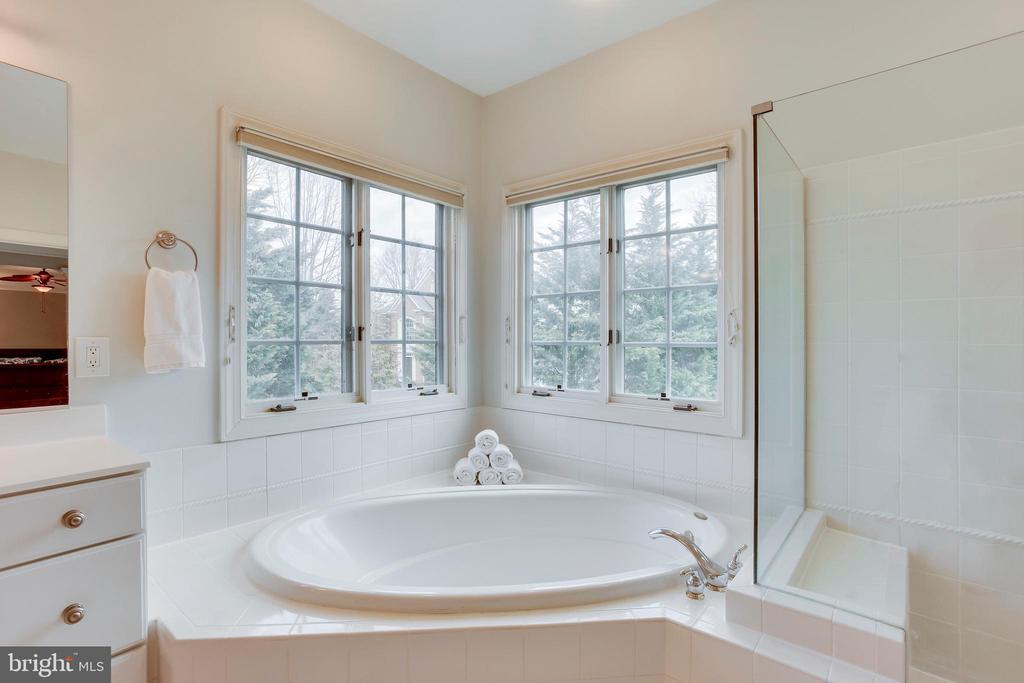 Master Bath: Soaking tub - 11580 CEDAR CHASE RD, HERNDON