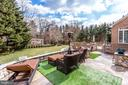 Beautifully landscaped yard with multi-level patio - 11580 CEDAR CHASE RD, HERNDON