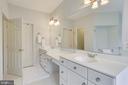 Master Bath: Double Sinks - 11580 CEDAR CHASE RD, HERNDON
