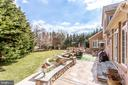 Multi-level stone patio - 11580 CEDAR CHASE RD, HERNDON