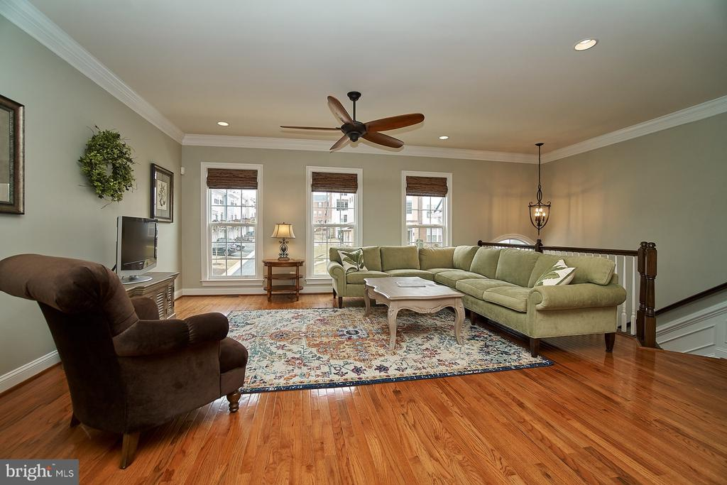 Spacious living room with hardwood flooring - 20639 ERSKINE TER, ASHBURN
