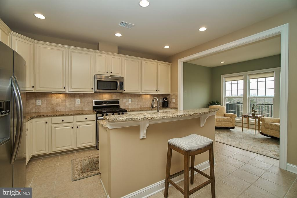 Kitchen has granite counters and ceramic flooring - 20639 ERSKINE TER, ASHBURN