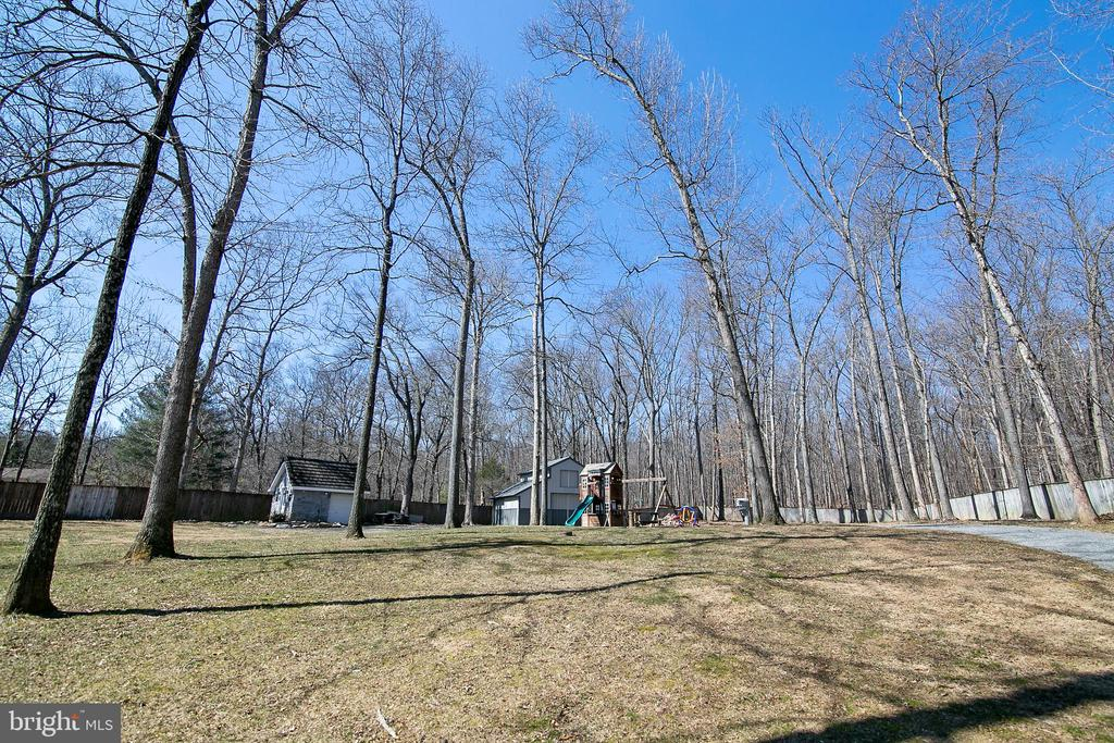 VIEW OF REAR GROUNDS - 13450 REED RD, THURMONT