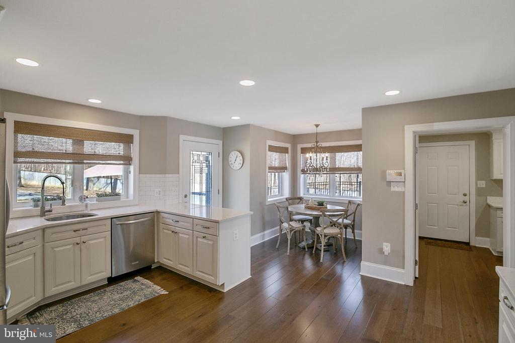 KITCHEN VIEW TO BREAKFAST NOOK AND LAUNDRY - 13450 REED RD, THURMONT