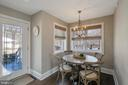 BREAKFAST NOOK TO REAR PATIO ACCESS - 13450 REED RD, THURMONT