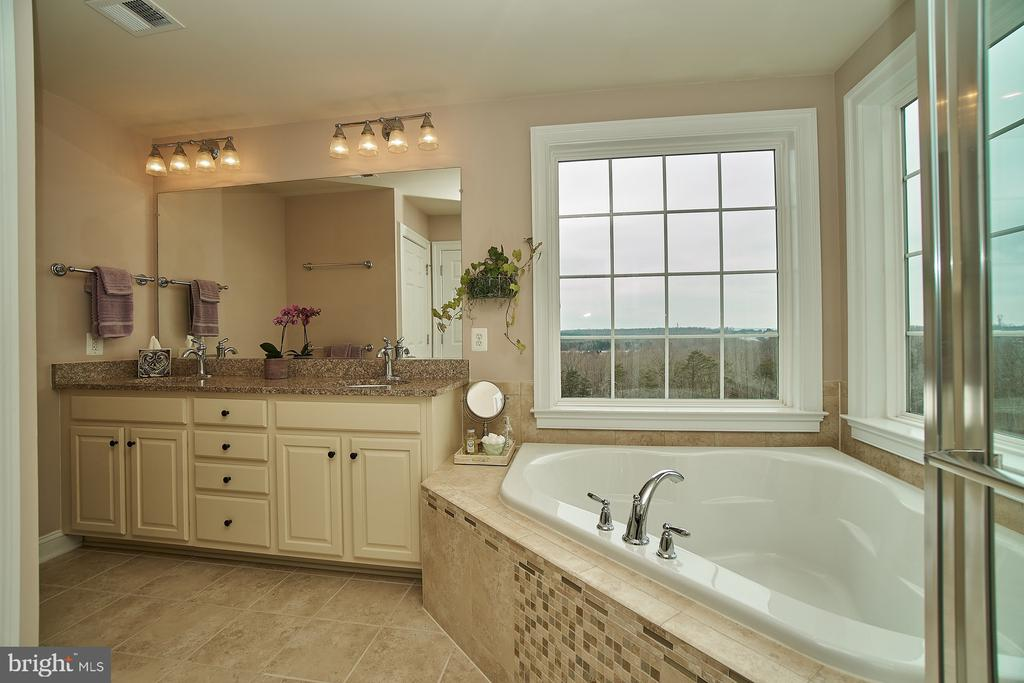 Luxury master bath with double vanity - 20639 ERSKINE TER, ASHBURN