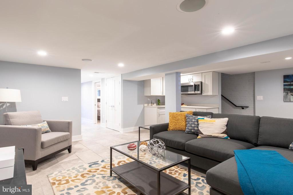 Basement Kitchen and Living Room - 4710 5TH ST NW, WASHINGTON