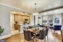 Open floor plan - dining room, family room and kit - 4314 13TH PL NE, WASHINGTON