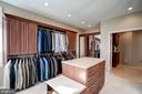 Master bedroom walk-in closet with center island - 1466 WATERFRONT RD, RESTON