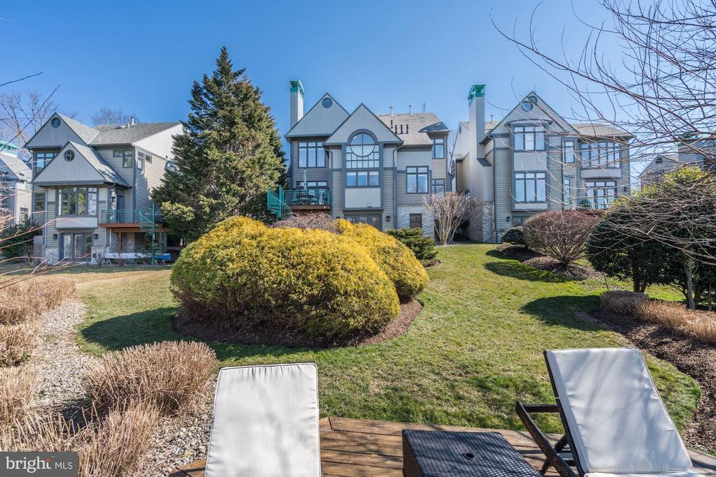 Rear view from lake dock / deck - 1466 WATERFRONT RD, RESTON