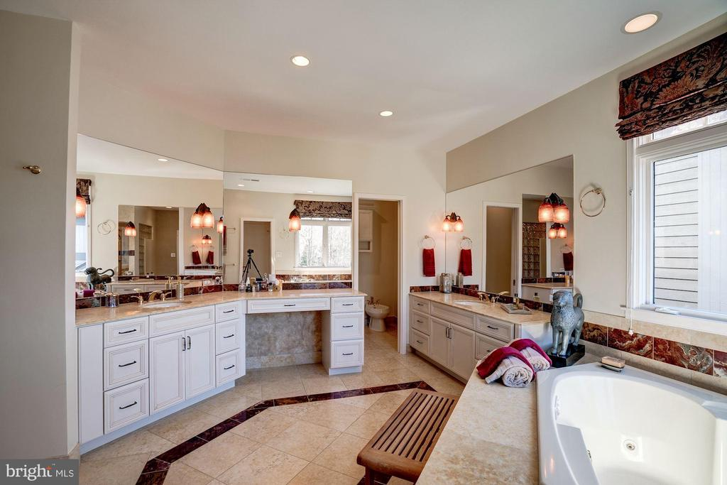 Master bath with views of lake from Jacuzzi tub - 1466 WATERFRONT RD, RESTON