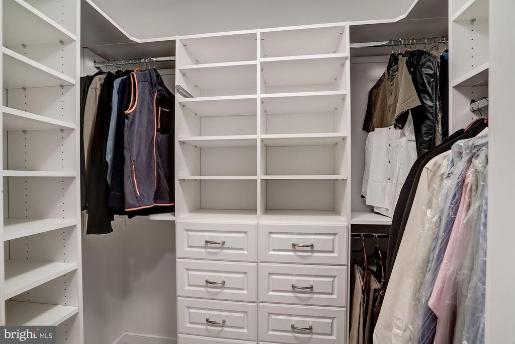 Bedroom closet on lower level - 1466 WATERFRONT RD, RESTON