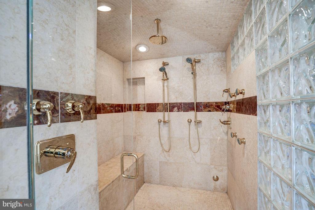 Master shower with steam - 1466 WATERFRONT RD, RESTON
