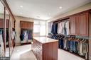 Master Closet with center island - 1466 WATERFRONT RD, RESTON