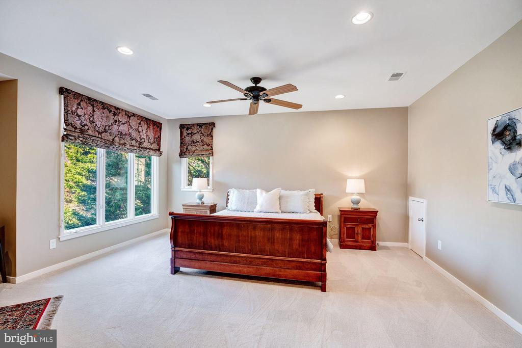 Master bedroom with views of lake - 1466 WATERFRONT RD, RESTON