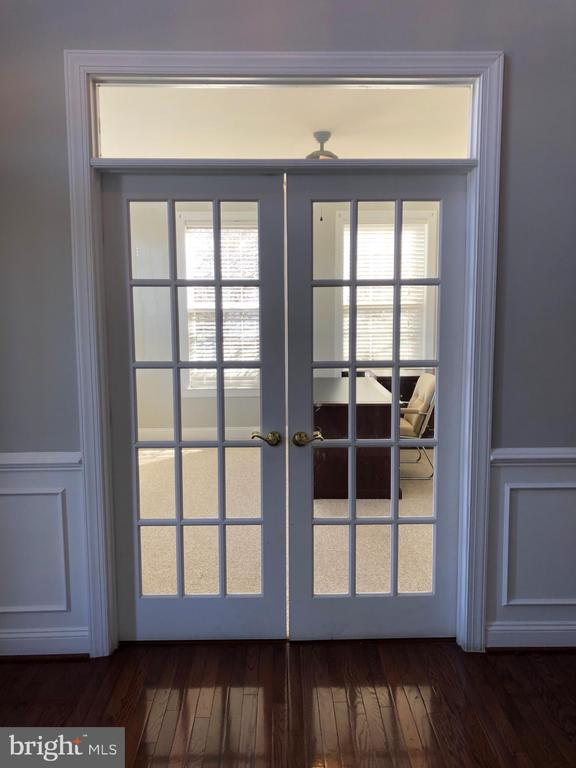 French Doors to Office - 22767 SWEET ANDREA DR, BRAMBLETON