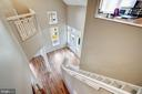 Stairs to master foyer - 1466 WATERFRONT RD, RESTON