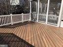Deck Off of Covered Porch - 22767 SWEET ANDREA DR, BRAMBLETON
