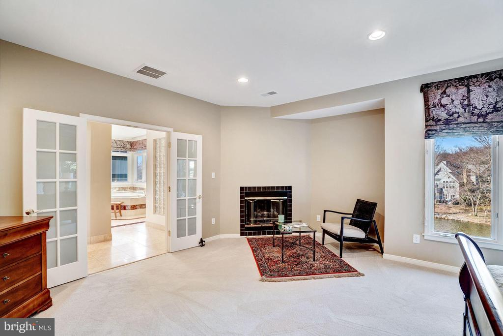 Master bedroom with lake view - 1466 WATERFRONT RD, RESTON