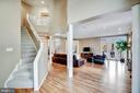 Stairs from master foyer - 1466 WATERFRONT RD, RESTON