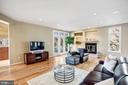 Living area with fireplace - 1466 WATERFRONT RD, RESTON