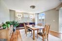 Dining area with great views of lake - 1466 WATERFRONT RD, RESTON