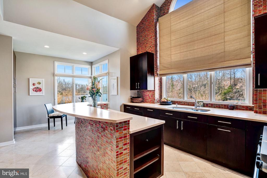 Kitchen with views from every window - 1466 WATERFRONT RD, RESTON
