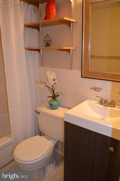 Bathroom with new vanity cabinet - 4917 AMERICANA DR #E, ANNANDALE