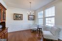 Formal Dining Room with Crown Molding. - 21 TANKARD RD, STAFFORD