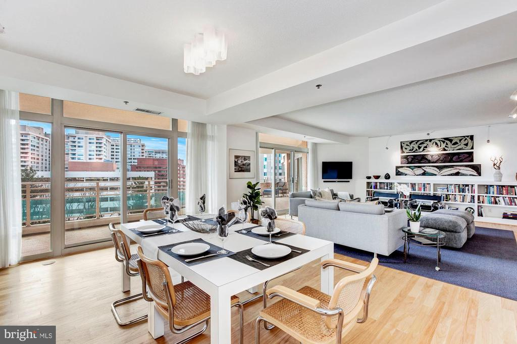 Light-Filled Dining Area that opens to Terrace - 5610 WISCONSIN AVE #804, CHEVY CHASE