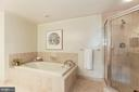 Master Bathroom with Soaking Tub - 5610 WISCONSIN AVE #804, CHEVY CHASE