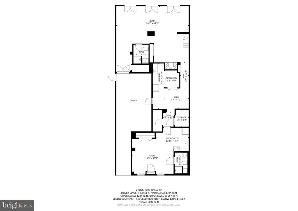 Lower Level Floorplan - 1408 35TH ST NW, WASHINGTON