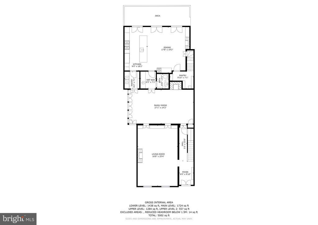 Main Level Floorplan - 1408 35TH ST NW, WASHINGTON