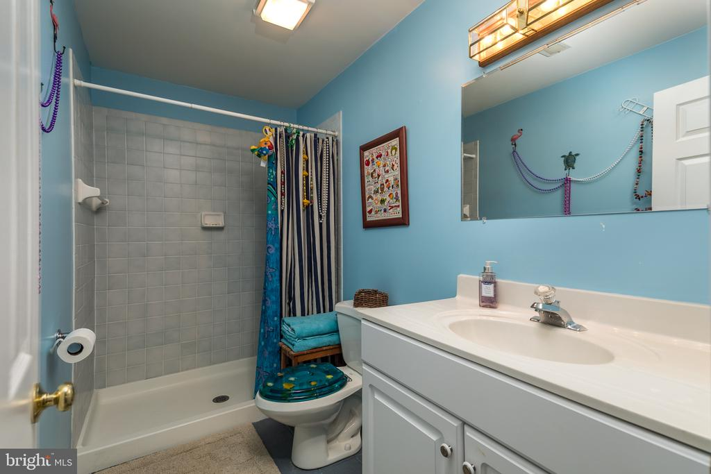 Lower level full bath - 4551 SUNSHINE CT, WOODBRIDGE