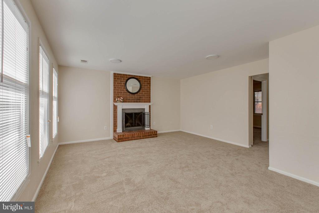 Warm and open living room with fireplace - 14513 CARONA DR, SILVER SPRING