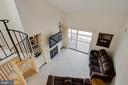 View from Loft to Living Room - 12302 WADSWORTH WAY #12, WOODBRIDGE