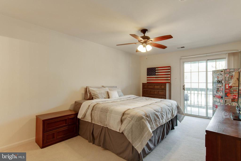 Master Bedroom has door to balcony - 12302 WADSWORTH WAY #12, WOODBRIDGE