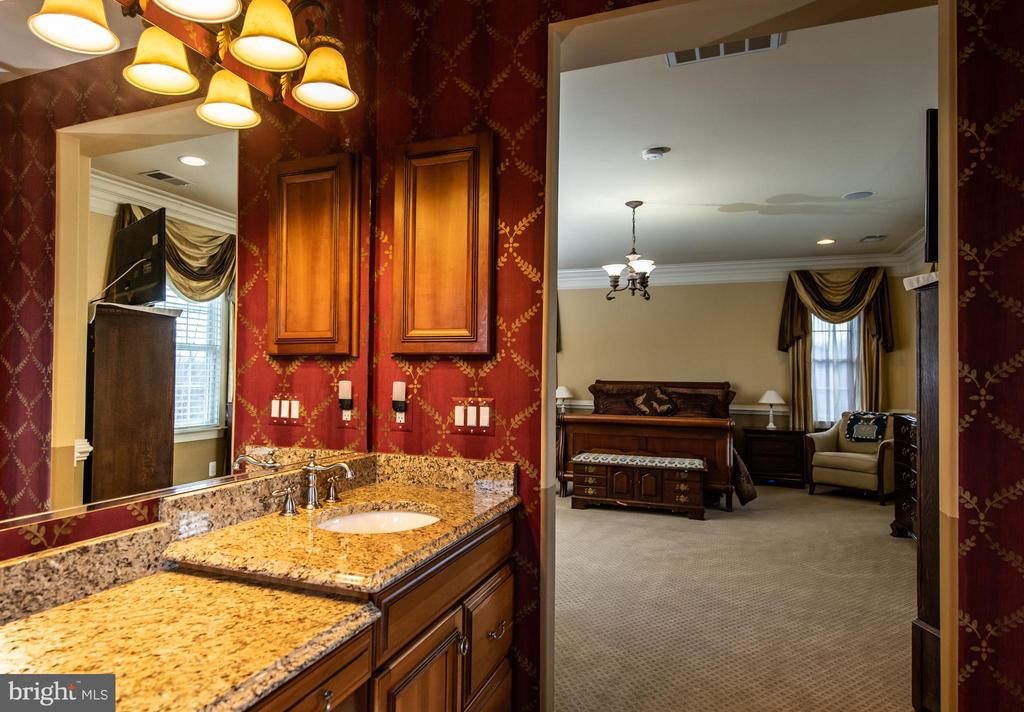 Mater bath with separate vanities. - 21883 KNOB HILL PL, ASHBURN