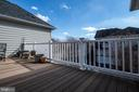Deck off master bedroom and loft - 21883 KNOB HILL PL, ASHBURN