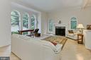 Formal living room, beautiful windows, fireplace! - 12709 MILL GLEN CT, CLIFTON