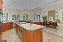 Gourmet kitchen with so much counter space! - 12709 MILL GLEN CT, CLIFTON