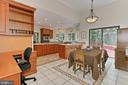 Breakfast room opens to sundeck - 12709 MILL GLEN CT, CLIFTON