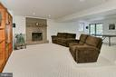 Walk out lower level with 3rd fireplace - 12709 MILL GLEN CT, CLIFTON