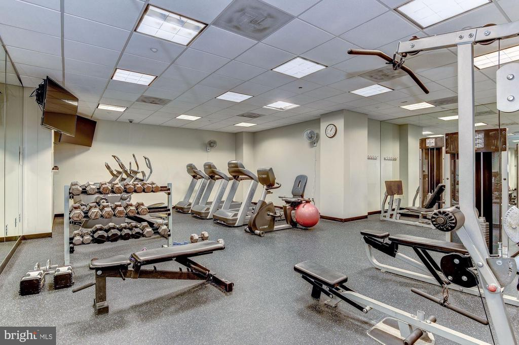 Gym located on lobby floor. - 1150 K ST NW #309, WASHINGTON