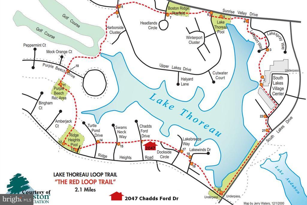 Walking/Biking Trail through the Community - 2047 CHADDS FORD DR, RESTON